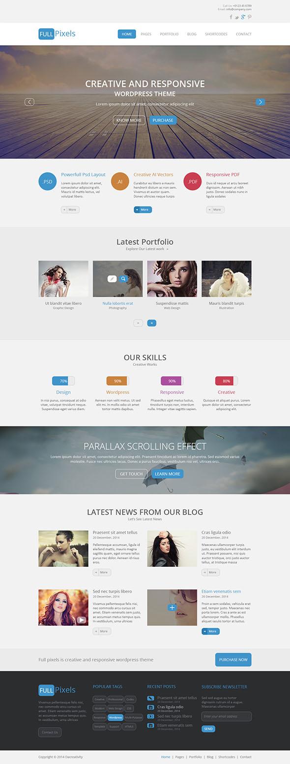 FullPixels - Creative PSD Template - 1