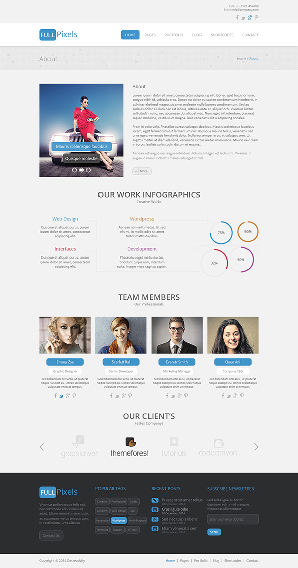 FullPixels - Creative PSD Template - 2