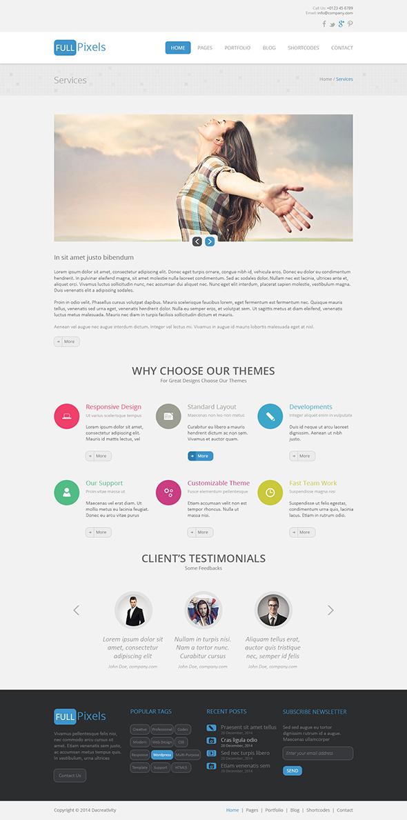 FullPixels - Creative PSD Template - 3