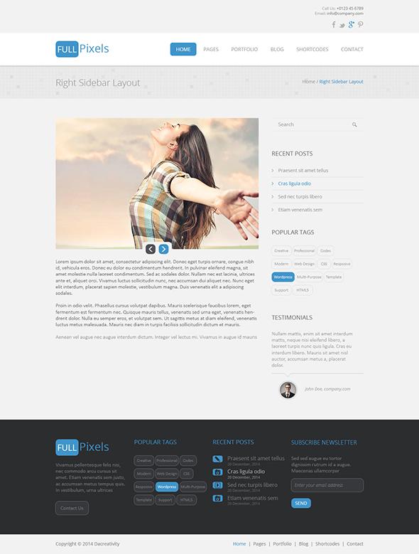 FullPixels - Creative PSD Template - 5