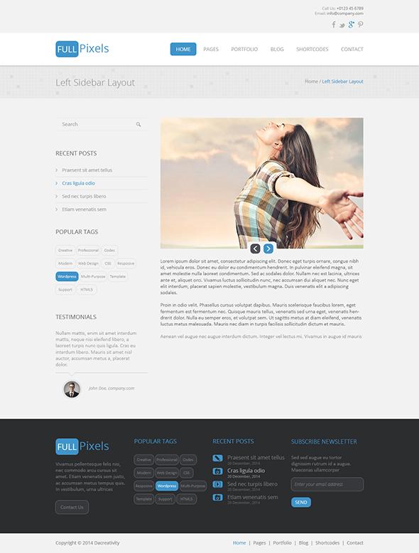 FullPixels - Creative PSD Template - 6