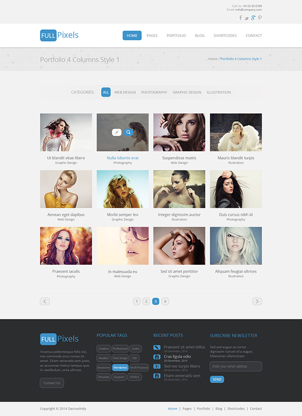 FullPixels - Creative PSD Template - 8