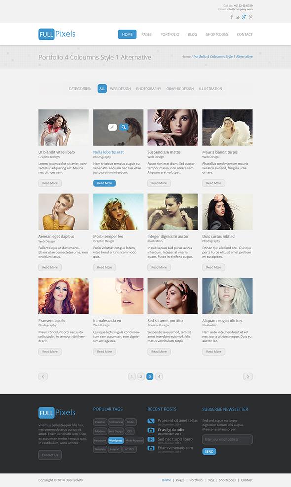 FullPixels - Creative PSD Template - 9