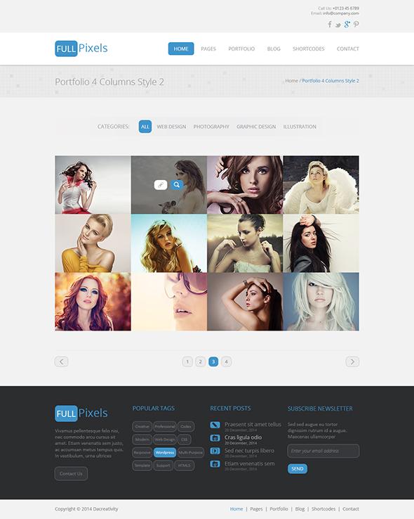 FullPixels - Creative PSD Template - 10