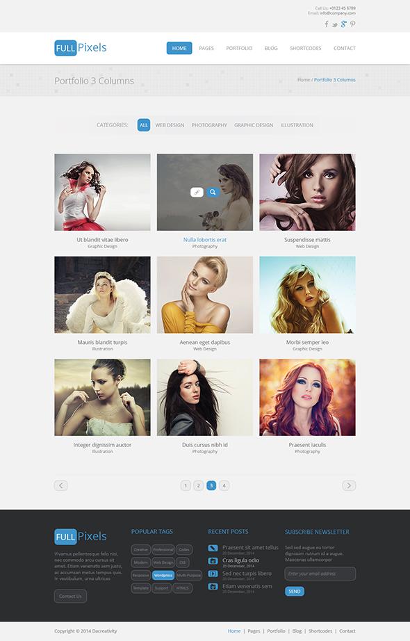 FullPixels - Creative PSD Template - 11