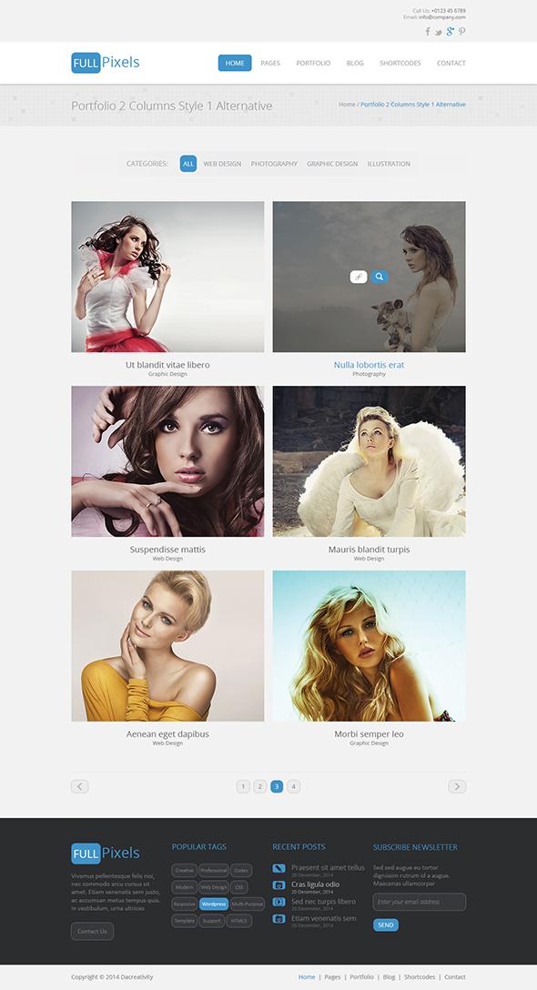 FullPixels - Creative PSD Template - 13
