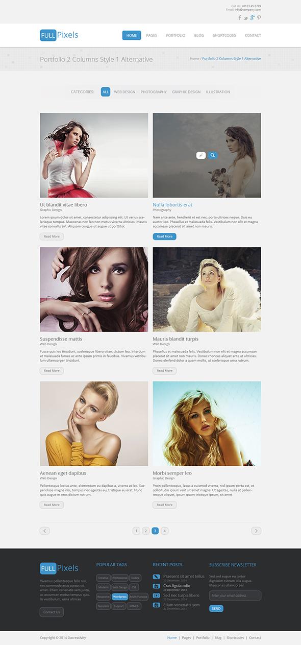 FullPixels - Creative PSD Template - 14