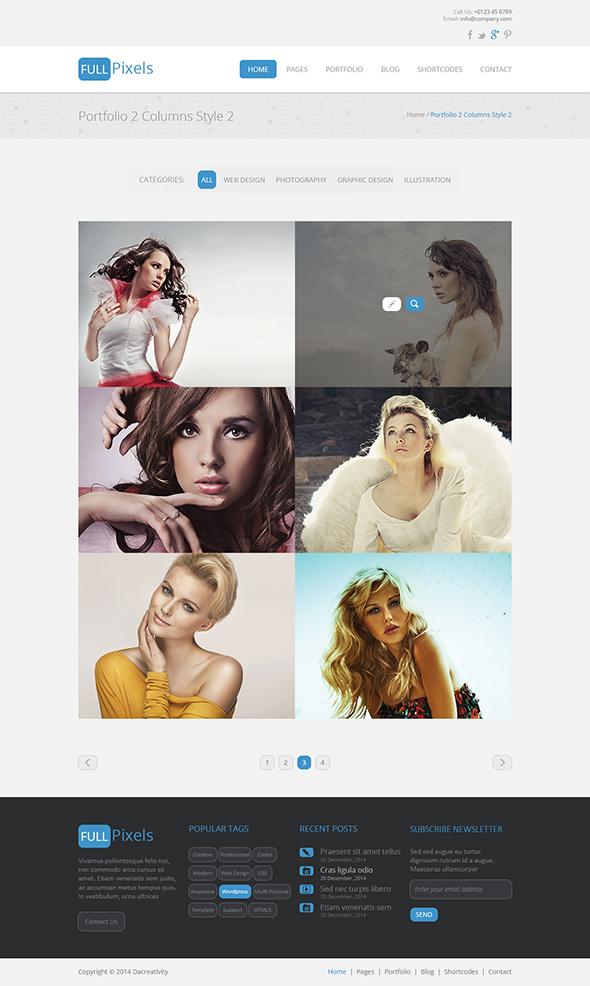 FullPixels - Creative PSD Template - 15