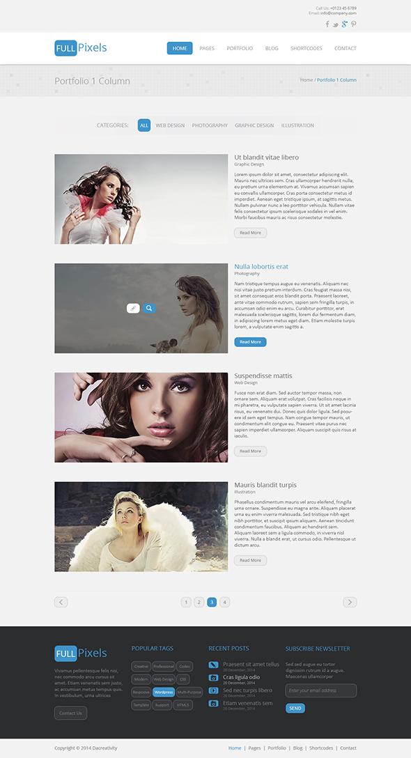 FullPixels - Creative PSD Template - 16
