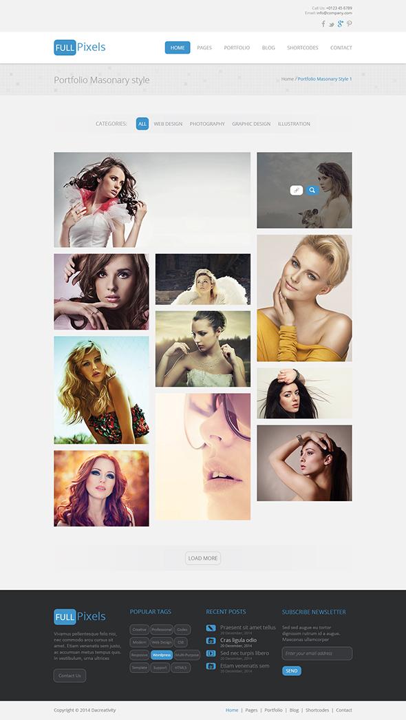 FullPixels - Creative PSD Template - 17
