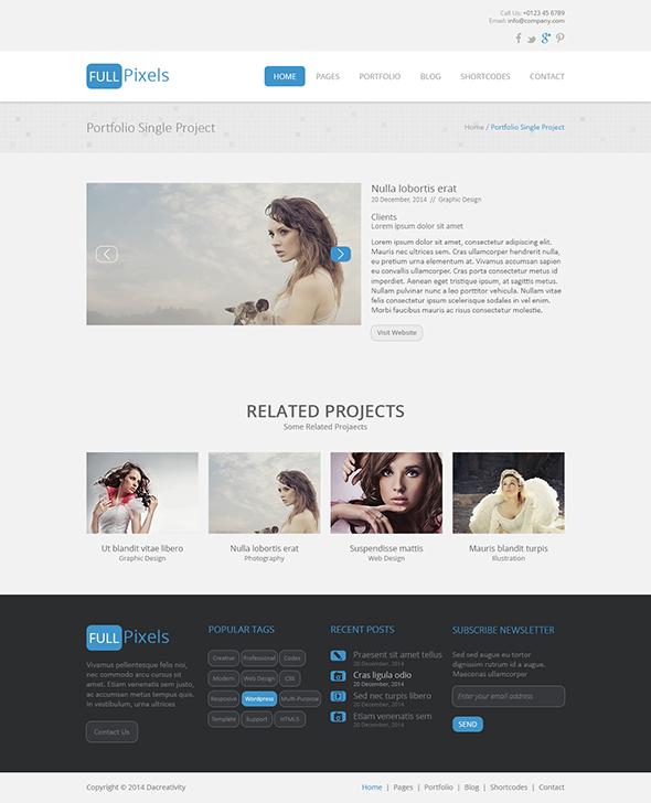FullPixels - Creative PSD Template - 19
