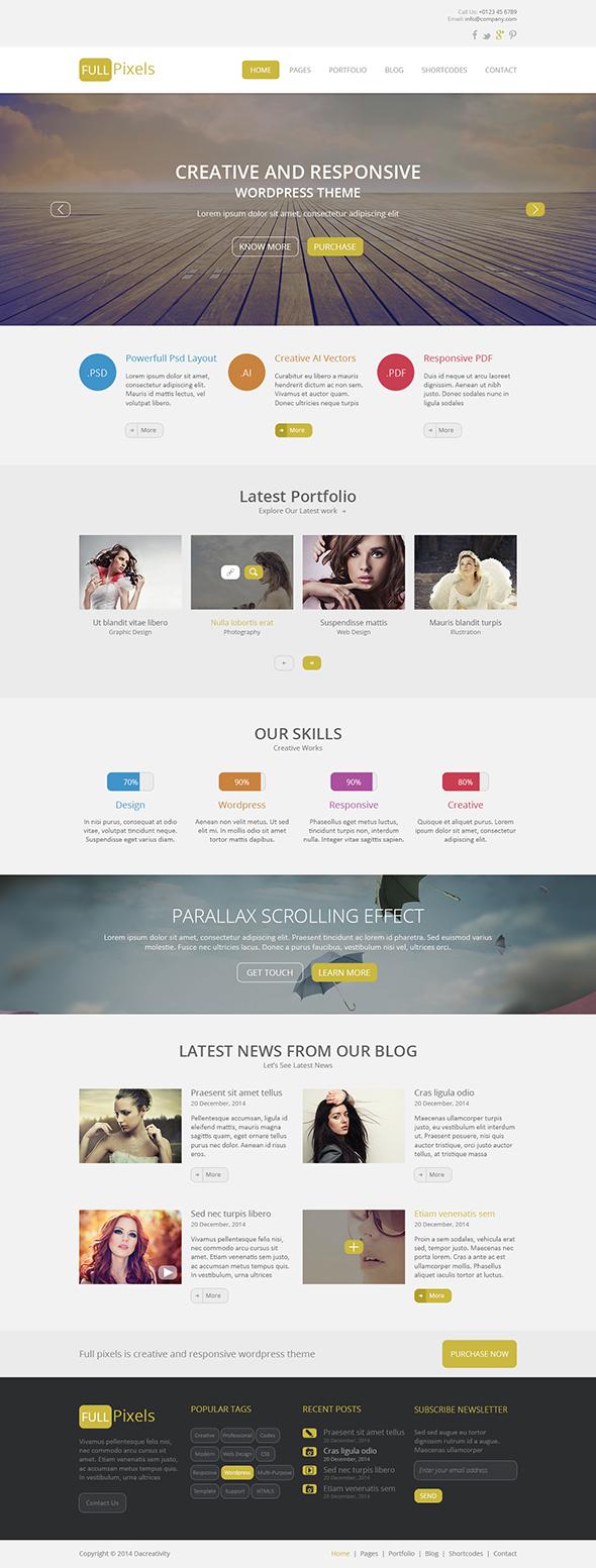 FullPixels - Creative PSD Template - 24