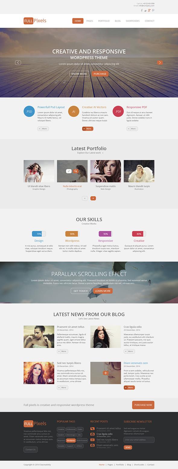 FullPixels - Creative PSD Template - 25